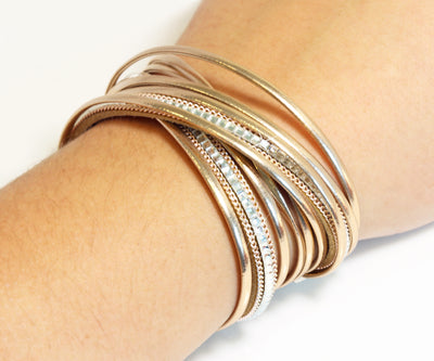 Champagne Double Wrap Crystal Bracelet