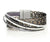 Lacey Cut Out Gun Metal Wrap Bracelet