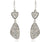 fashion platinum diamond dangling druzy earrings sterling silver