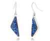 Triangle Blue Druzy Earrings