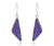 ambrosia womens triangle purple rainbow druzy silver drusy earrings