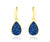 ambrosia small teardrop sapphire blue druzy dangle 14k vermeil drusy earrings