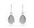 platinum teardrop dangle fashion druzy earrings sterling silver