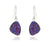 small trillion purple rainbow druzy dangle silver drusy earrings