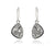 platinum trillion dangle fashion druzy earrings sterling silver