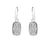 Small Rectangle Platinum Druzy Earrings