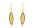 18k gold fashion druzy marquise dangle earrings vermeil