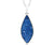 ambrosia large marquise sapphire blue druzy quartz sterling silver necklace fashion drusy jewelry
