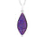 ambrosia large marquise purple rainbow druzy quartz sterling silver necklace fashion drusy jewelry