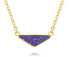 womens medium triangle purple rainbow druzy 14k vermeil drusy necklace