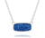 Ambrosia womens medium rectangle sapphire blue druzy silver drusy necklace
