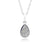 ambrosia small teardrop platinum druzy drusy sparkle necklace