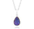 ambrosia small teardrop purple rainbow teardrop druzy silver sparkle drusy necklace