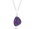 ambrosia small trillion purple rainbow druzy silver drusy necklace