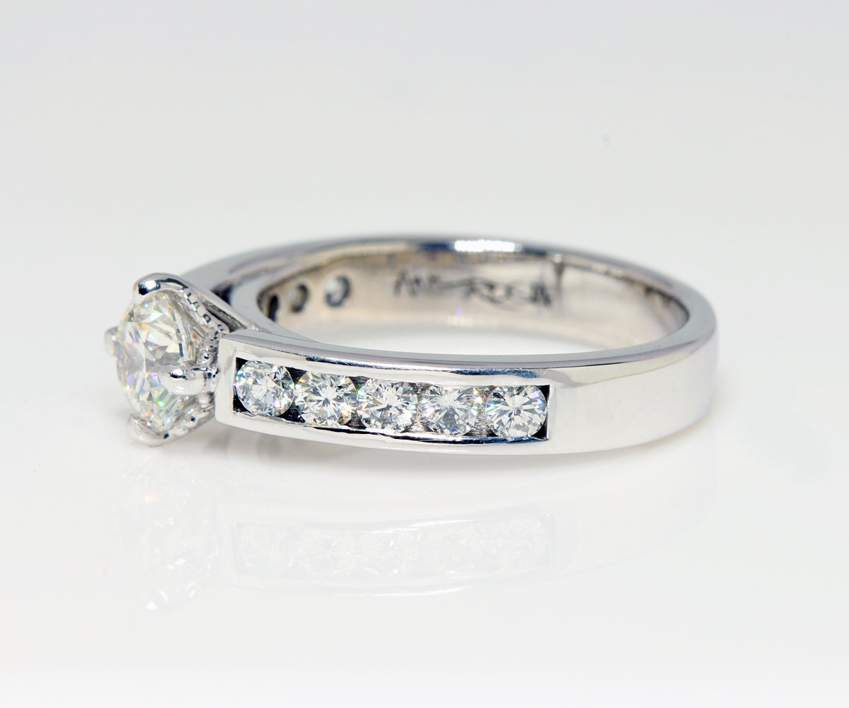 Classic Channel Diamond Engagement Ring