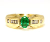 Genuine Emerald and Diamond Ring Restored
