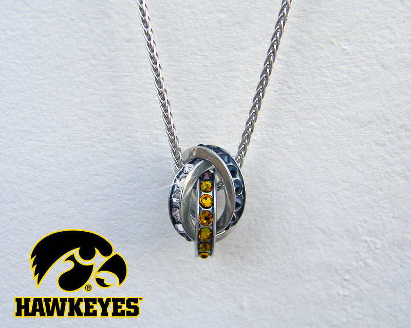 Iowa Hawkeye Fan Necklace