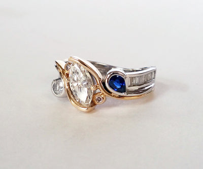 Inherited Wedding Ring Redesign