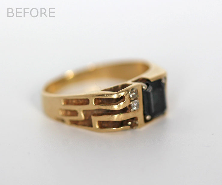 Men's Cutout Wedding Ring Restored