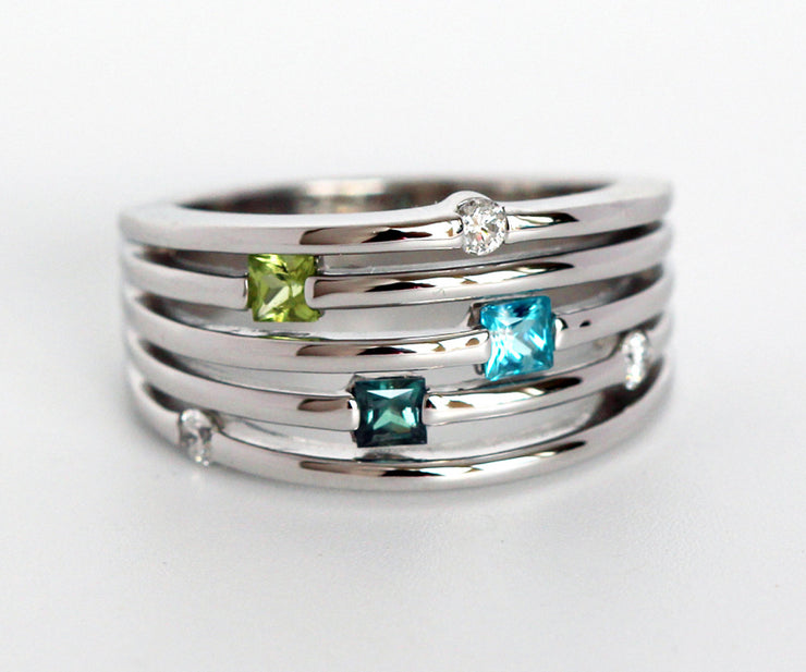 Contemporary Stacking Mother's Ring