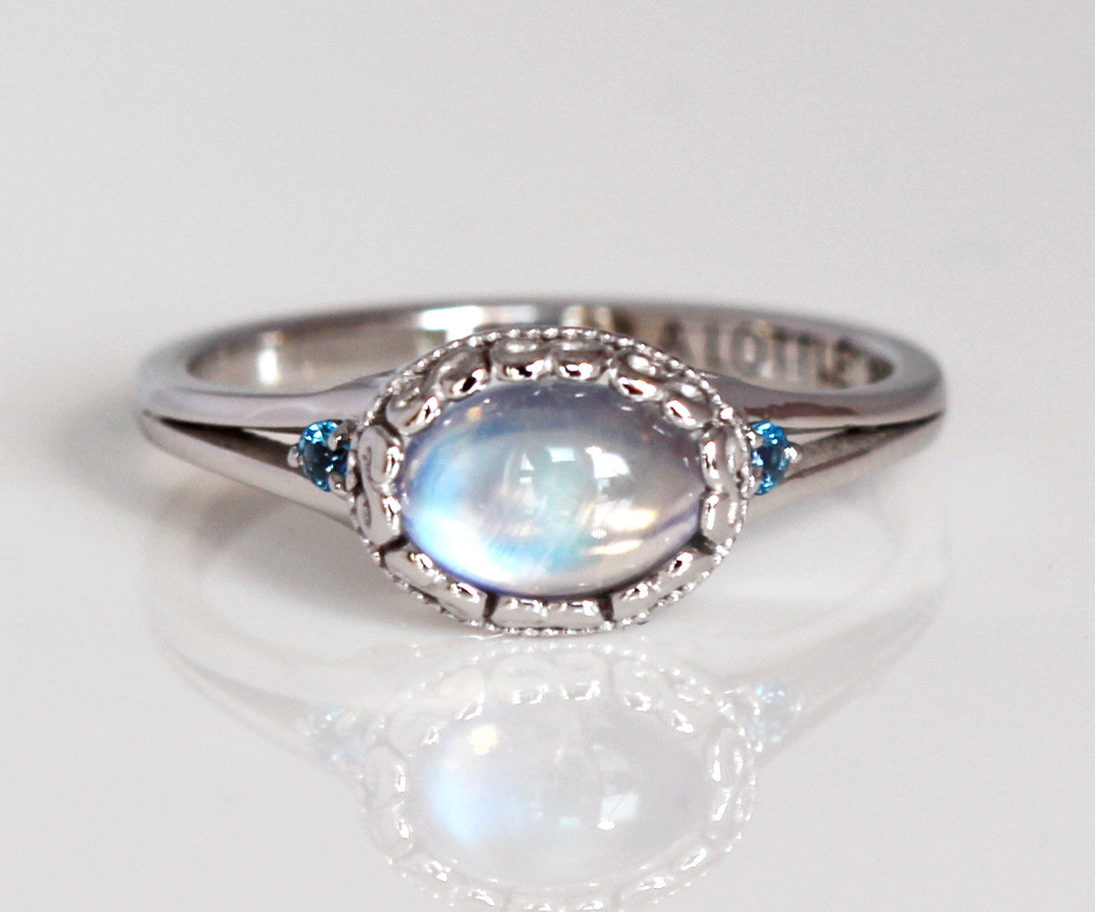 vintage swirl moonstone engagement ring - Moonstone Wedding Ring