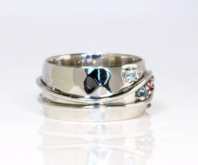 Wide Modern Mother's Ring