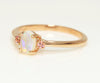 Opal and Pink Topaz Simple Rose Gold Ring