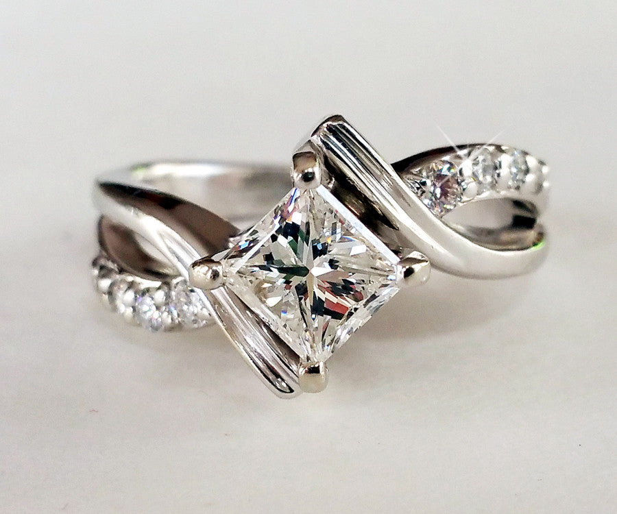unique engagement ideas rings curved for band bands vintage wedding
