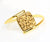 Bypass Square 18k Gold Druzy Ring