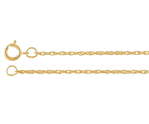 Ambrosia Double Rope 14k GP Gold Chain Necklace