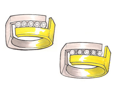 Sleek and Modern Men's Wedding Ring Redesign