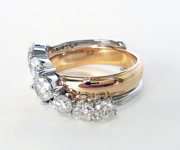 Parents wedding rings redesigned ambrosia for Ideas for redesigning wedding rings