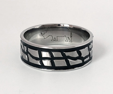 Rhino Texture Men's Wedding Ring
