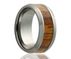 Tungsten Zebra Wood Ring
