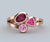 Rose gold mothers ring tourmaline pink topaz