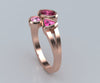 Modern Mother's Tourmaline, Topaz Rose Gold Ring