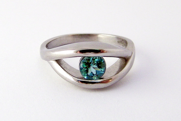 Tourmaline Solitaire Wedding Ring