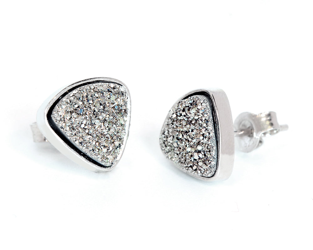 druzy small jewellery earrings e products teardrop ambrosia platinum