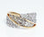 Two Tone Twist Pave Diamond Fashion Ring Redesigned