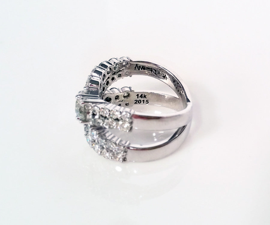 Contemporary Wedding Ring Redesign