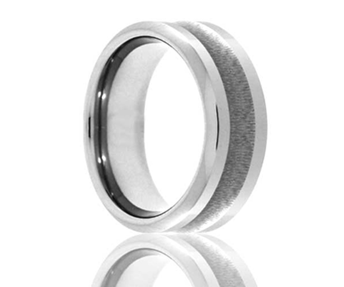 Cobalt Brushed Inside Radius Ring