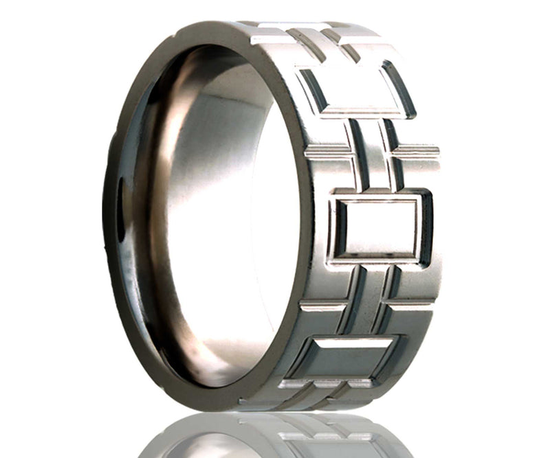 Titanium Flat Architectural Milled Ring