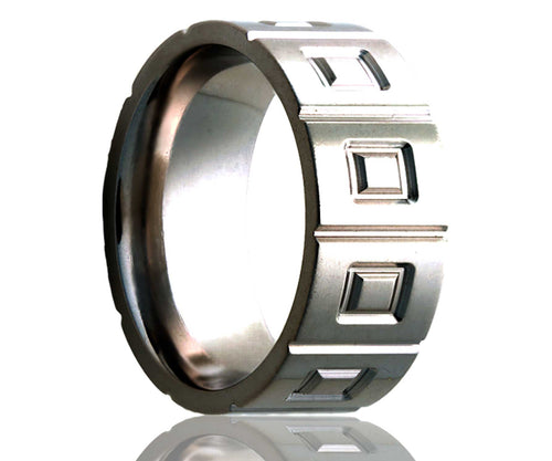 Titanium Flat Window Milled Ring