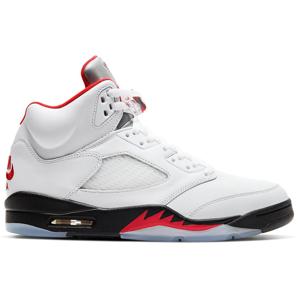 "Air Jordan Retro 5 ""Fire Red"" is available 5/02"