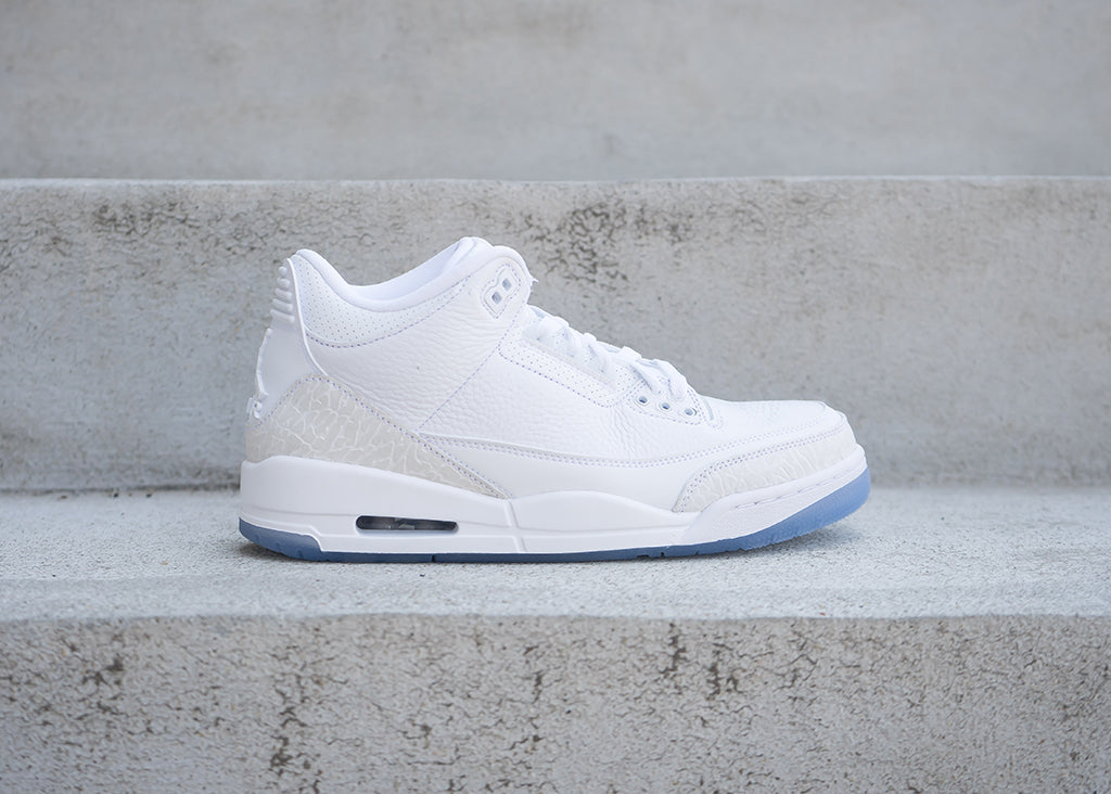 "Air Jordan 3 ""Pure White"" Available 7.21"