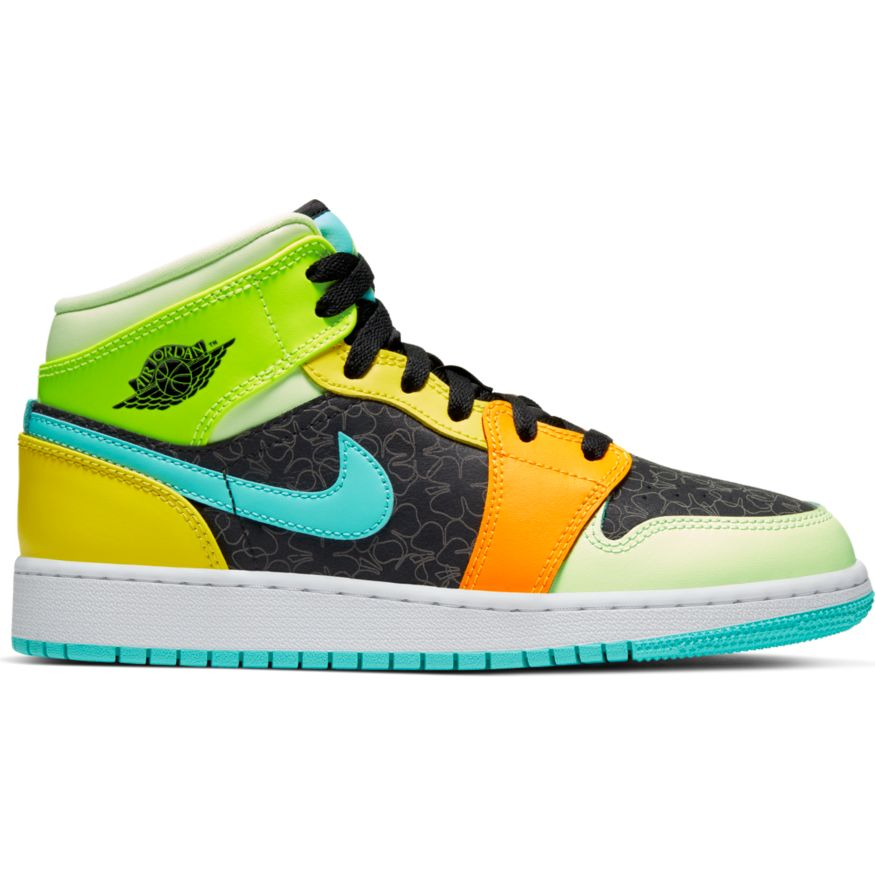 "GS Air Jordan 1 Mid SE 'Aurora Green"" Available Now In Store"
