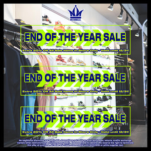 End Of The Year Sale - Extra 20% Off Sale Items In-Store Until 12/31!