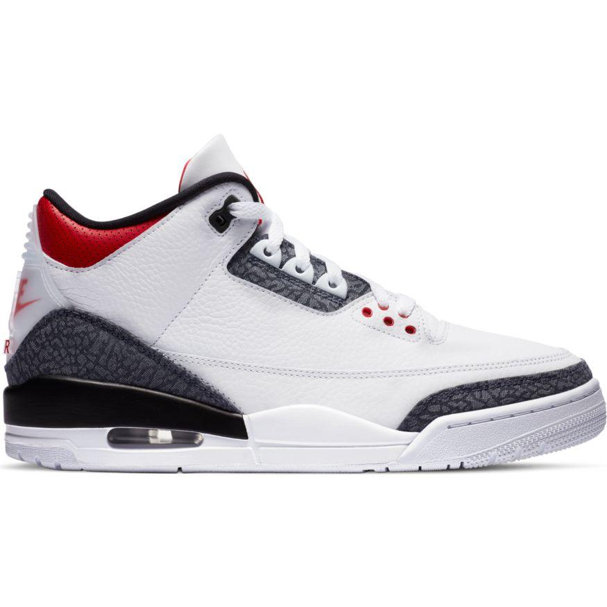 "Air Jordan Retro 3 SE Denim ""Fire Red"" Available 8/27!"