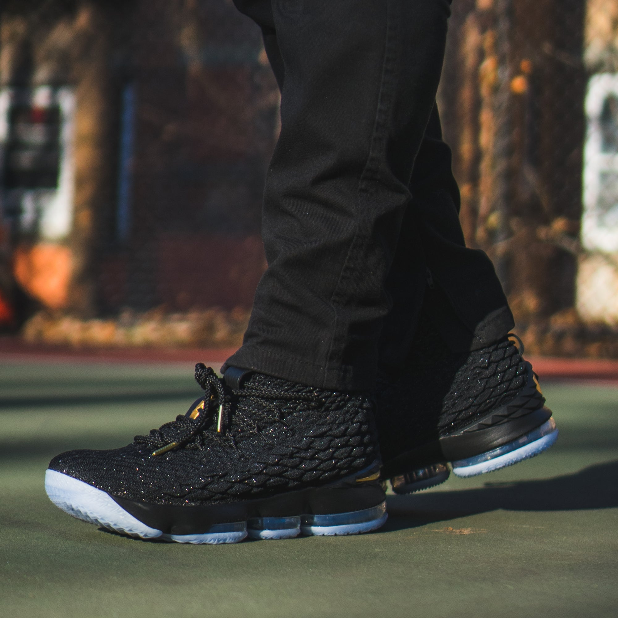 "Nike Lebron 15 "" Black & Gold "" Available In-store now!"