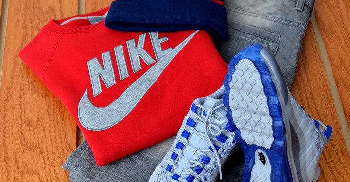 Hundreds Beanie, Nike Sweatshirt and Air Max 95s